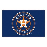 Fanmats Machine-made Houston Astros Blue Nylon Ulti-Mat (5' x 8')