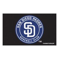 Fanmats Machine-made San Diego Padres Black Nylon Ulti-Mat (5' x 8')