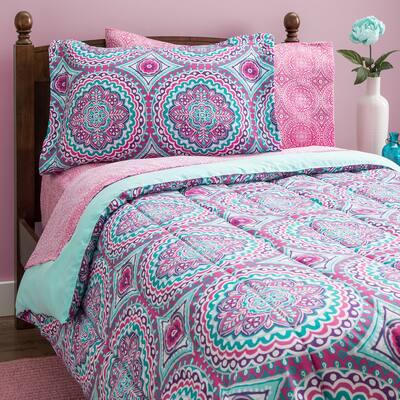 Thalia Reversible Ultra Soft Microfiber Comforter Bedding Set