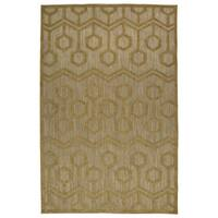 "Indoor/Outdoor Luka Light Brown Zig-Zag Rug - 8'8"" x 12'"