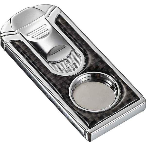 Visol Razor Carbon Fiber Stainless Steel Cigar Cutter