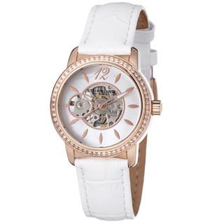 Stuhrling Original Women's Delphi Automatic Leather Strap Watch
