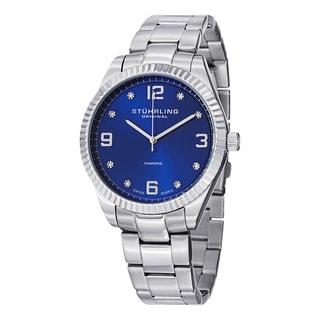 Stuhrling Original Men's Allure Swiss Quartz Stainless Steel Bracelet Watch