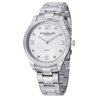 Stuhrling Original Men's Allure  Swiss Quartz  Stainless Steel Bracelet Watch