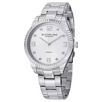 Stuhrling Original Men's Allure  Swiss Quartz  Stainless Steel Bracelet Watch - silver