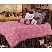 HiEnd Accents Pink Paisley 6-Piece Bedding Set