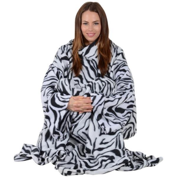 Shop As Seen On TV Soft Fleece Sleeved Blanket - On Sale - Free ... 6f6b31b8a