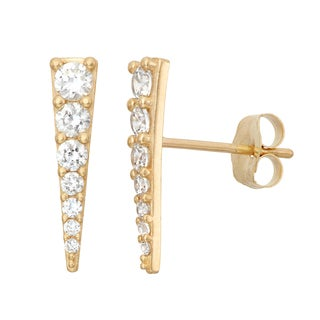Gioelli 10KT Gold Graduated CZ Stud Earrings