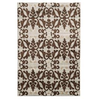 Linon Elegance Florence Rug (Ivory/Brown 2 x 3)