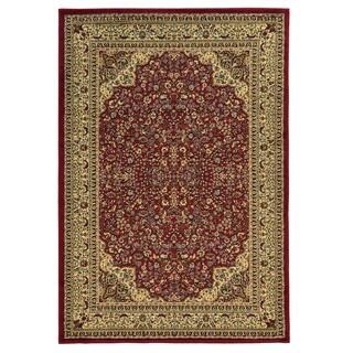 Linon Elegance Isphahan Red Rug (2' x 3')
