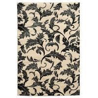 Linon Elegance Forest Grey Rug (2' x 3')