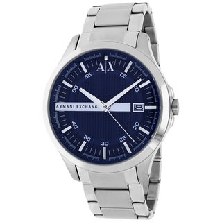 Armani Exchange Men's AX2132 Classic Round Silvertone Bracelet Watch