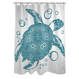 Honu Turtle Teal Shower Curtain
