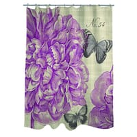 Butterflies and Peony Shower Curtain