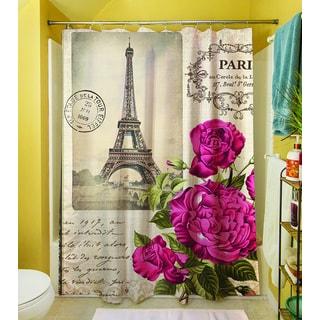 Springtime in Paris All Roses Shower Curtain