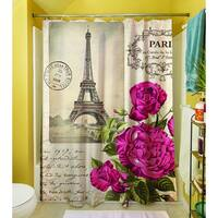 Springtime in Paris All Roses Shower Curtain