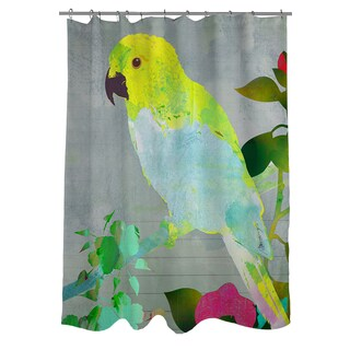 Collage Parrot Shower Curtain