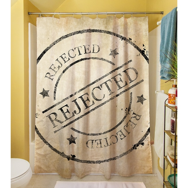 Stamp Rejected Shower Curtain