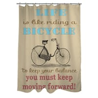 Life Bicycle Shower Curtain