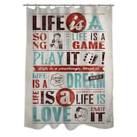 Life Is Shower Curtain