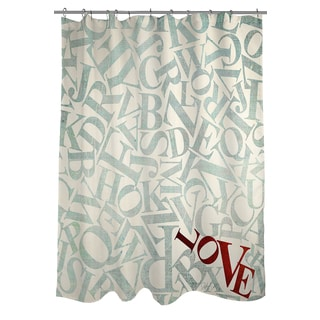 Love Alphabet Jumble Shower Curtain