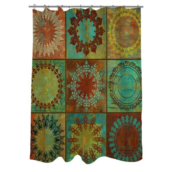 Medallion Grid Shower Curtain
