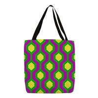 Neon Party Honeycomb Pattern Tote
