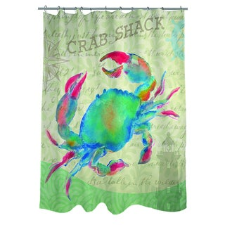 Salty Air Crab Shower Curtain