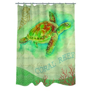Salty Air Sea Turtle Shower Curtain
