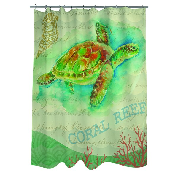 Delightful Salty Air Sea Turtle Shower Curtain