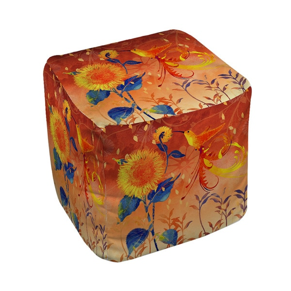 The Curated Nomad Ganador Daisy Hum Dark Pouf