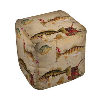 Thumbprintz Fish and Lures Pouf