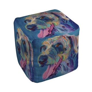 Lizzy Dog Pouf (Medium - 18 x 18)