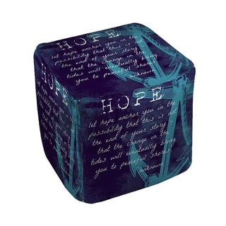 Let Hope Anchor You Pouf