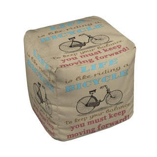 Thumbprintz Life Bicycle Pouf