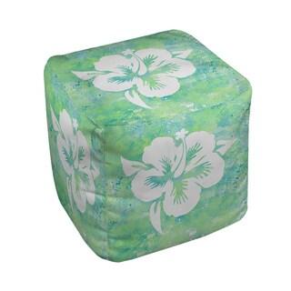 Sponge Paint Hibiscus Pouf (2 options available)