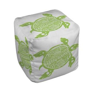 Thumbprintz Honu Turtle Green Pouf