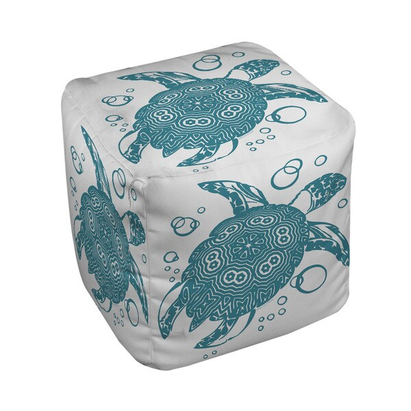 Honu Turtle Teal Pouf