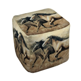 Thumbprintz Galloping Horses Pouf