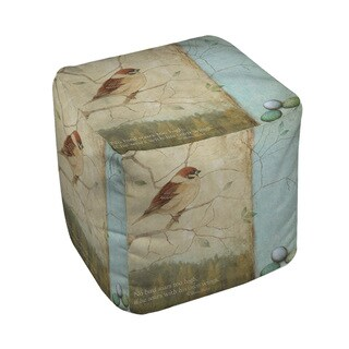 The Gray Barn Ivy Hollow Bird Quote Sparrow Pouf