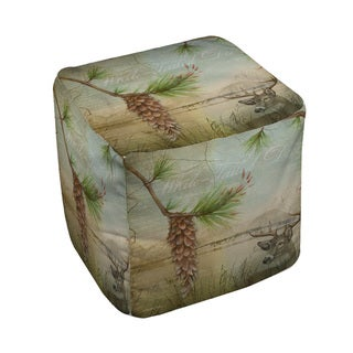 Thumbprintz Conifer Lodge Deer Pouf