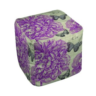 Butterflies and Peony Pouf