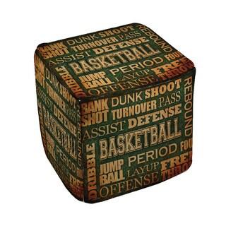 Thumbprintz Basketball Words Pouf