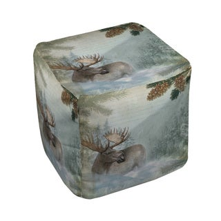 Thumbprintz Conifer Lodge Moose Pouf