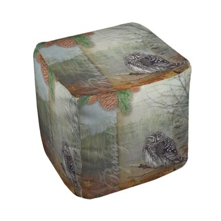 Thumbprintz Conifer Lodge Owl Pouf