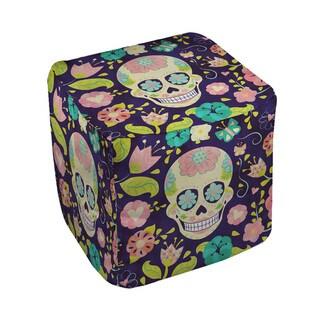 Sugar Skull Pouf