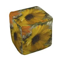 Sunflowers Square II Pouf