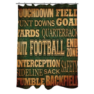 Thumbprintz Football Words Shower Curtain