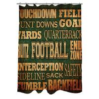 Football Words Shower Curtain