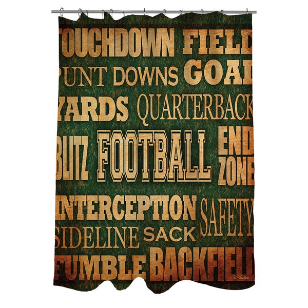 Shop Football Words Shower Curtain - On Sale - Free Shipping Today ...